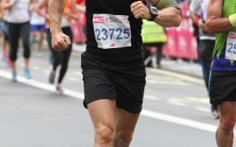 Troy Smith taking part in the British 10K Run 2014