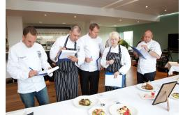 The judges deliberate at last year's final