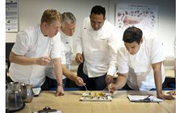 Image of SW Chef of the Year judges Neil Haydock, Peter Gorton, Michael Caines,