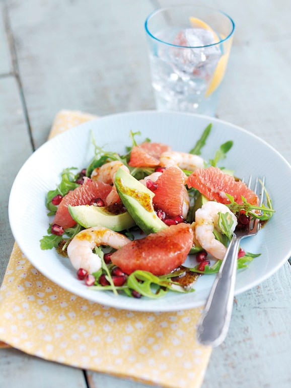 salad with grapefruit salad with avocado grapefruit persimmon ...