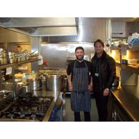 James Lock (right) with Clink head chef Paul Clarkson