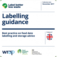 WRAP food labelling guidance
