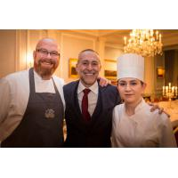 Young National Chef of the Year serves dinner for Michel Roux Jr and friends