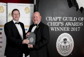 Harry Lomas MBE BEM FIH at The Craft Guild of Chefs Awards